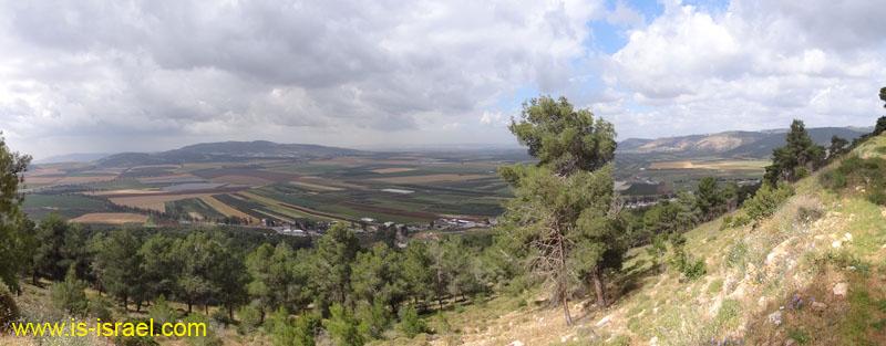 Вид с горы Тавор