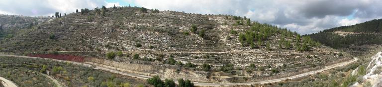 Вид на гору Рэфаим